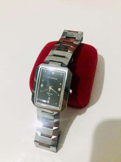 Lindo Relógio Technos Masculino, Vidro E Pulseira Anti Risco