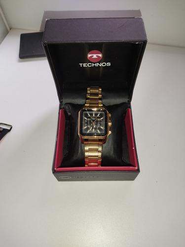 Relógio Technos Os20.ie Banhado A Ouro.