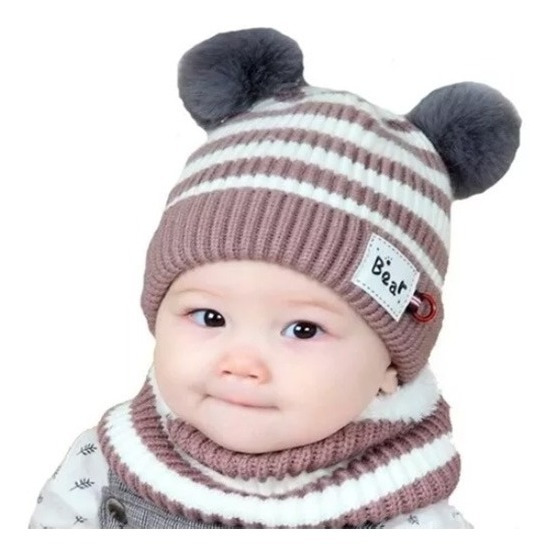 Set Gorros Bufanda Sombrero Invernal Niños Niñas