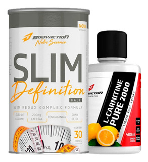 Kit Emagrecimento Slim Definition + L-carnitina - Bodyaction