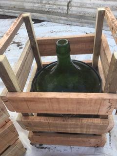 Goya Damajuanas 10 Litros Cajón De Madera