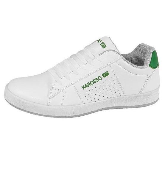 Tenis Caballero Marca Karosso Mod 1952 Blanco/verde