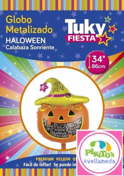 Globo Forma Redondo Happy Halloween Calabaza 86cm Mylar