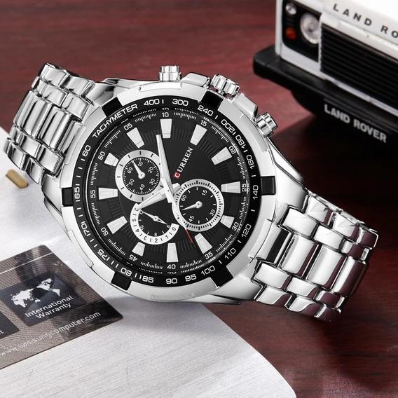 Relógio Curren Original Em Aço Inoxidável