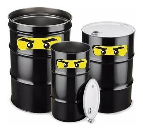 Adesivo Recortado Olhos Lego Para Tonéis Barril Tambor Metal