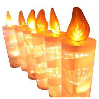 Velas Luces Led Navidad Decoración Hogar X 6 Unidades