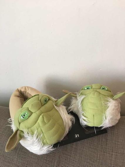 Pantuflas Star Wars Yoda Unisex Talla 21 Coleccionables!!!