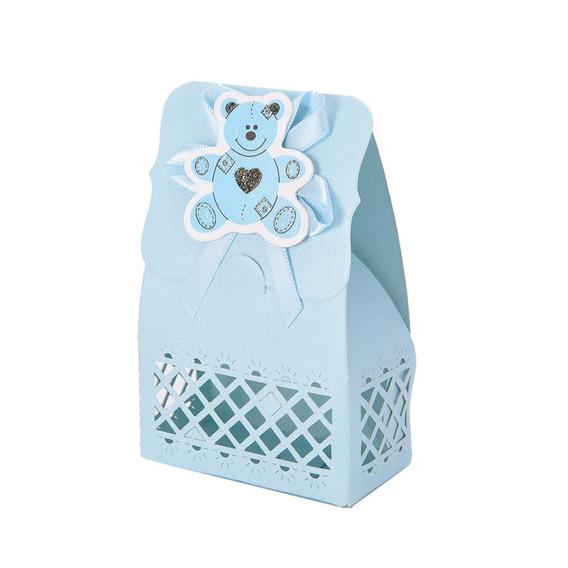 Lembrancinha Chá De Bebê E Maternidade 100 Caixinhas Azul