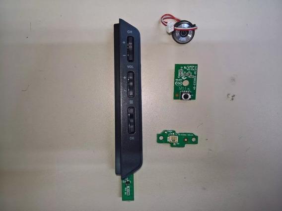 Placa Sensor Remoto Chave E Botão Power Philco Ph32m Led A4