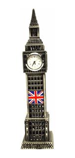 Miniatura Relogio Big Ben Londres Em Metal 18 Cm Decorativo