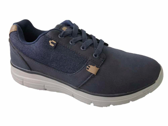 Tenis Charly 1021819 Hombre Casual Marino Textil Deportivo