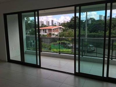 Apartamento Com 3 Dormitórios Para Alugar, 108 M² Por R$ 3.600/mês - Poço Da Panela - Recife/pe - Ap0783