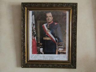Foto Oficial Presidente Chile Augusto Pinochet Autografiada