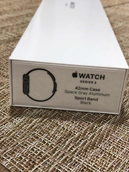 Relogio Apple Watch Serie 3 De 42 Preto Novo Lacrado
