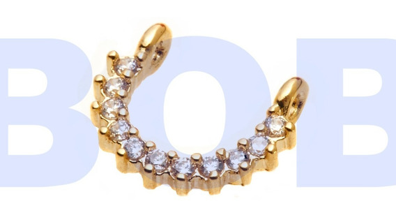 Piercing Banhado A Ouro Para Septo, Hélix Diâmetro 6mm