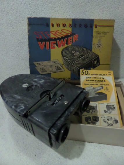 Visor Diapositivas Brumberger Stereo Viewer,made U S A,3 D