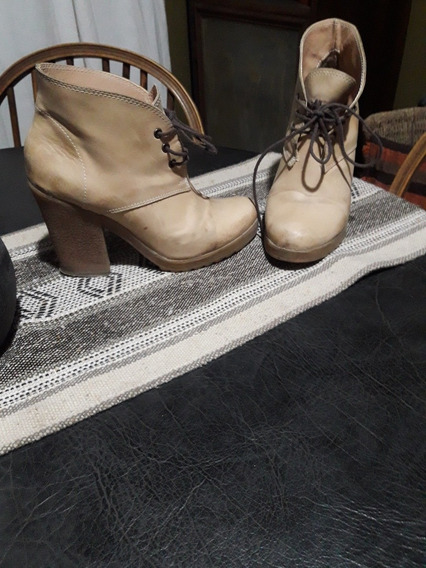 Botas De Cuero .color Beige. Impecables¡¡