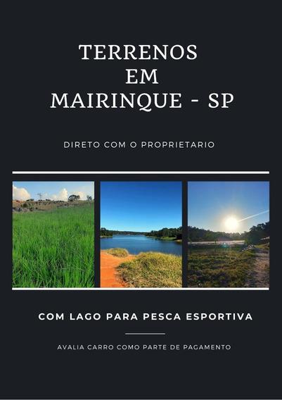 Lote Plaino De 1000m Com Lago Para Pesca Interior Sp
