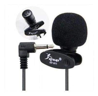 Microfone De Lapela 3.5mm Stereo P2 Knup Kp-911 Frete Barato