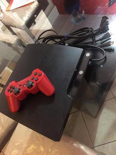 Playstation 3 Con 1 Control(rojo) Y Cable Hdmi