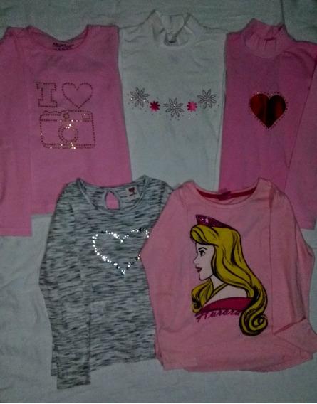 5 Blusas/camisetas Infantil Meninas 6 Anos (ler Descrição)