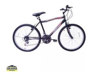 Bicicleta Aro 24 Sport Mega Bikes Preta Ou Vermelha