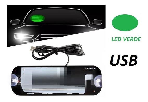 Painel Luminoso Led Verde Para Indentificação Com Nome Uber