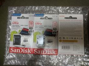 Cartão De Memoria Micro Sdhc Sandisk 16gb, Ultra Classe (10)