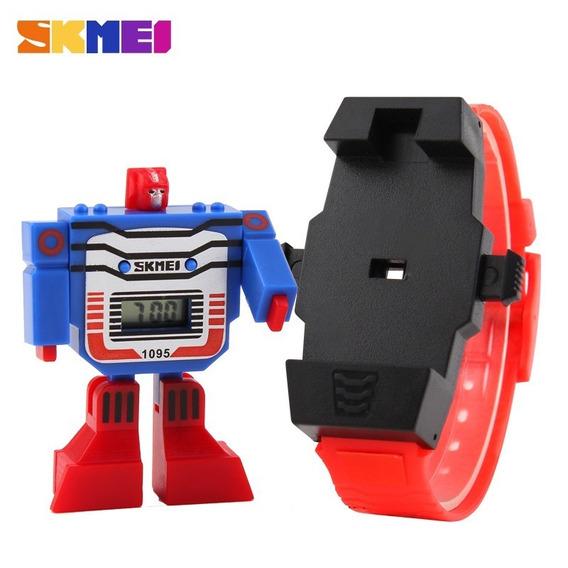 Relógio Transformers Skmei 1095 Vira Robô Grande Promoção