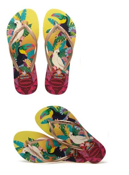 Chinelos Havaianas Slim Tropical Feminino Original P.entrega