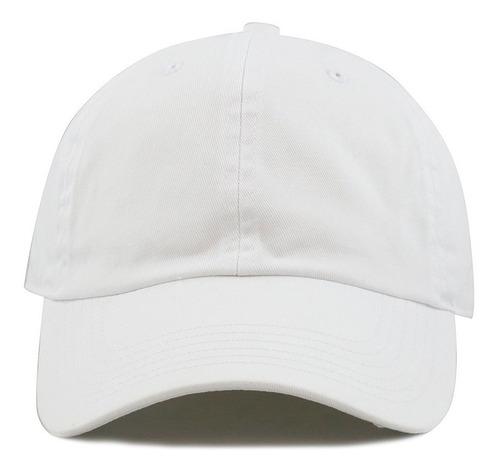 Docena De Gorra Publicitaria Blanca En Dril Hebilla - Velcro