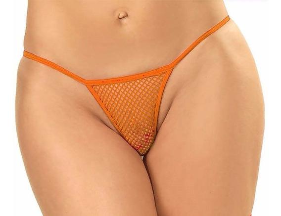 Colaless De Red Naranja Fluo Malena - Lencería - Fun*