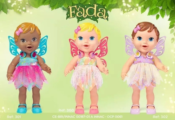 Kit 2 Bonecas Babys Collection Fada Super Toys S/juros