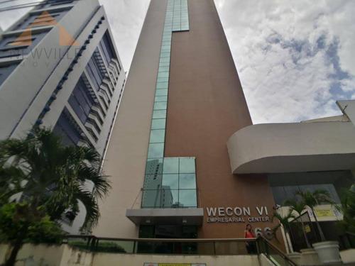 Sala Para Alugar, 210 M² Por R$ 16.305/mês - Boa Viagem - Recife - Sa0335