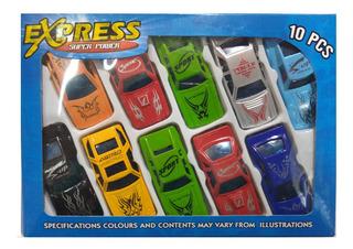 Autos Coleccion X 10 En Caja Juguete