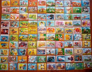 Lote 100 Estampillas Mickey Disney Etc Ojo Algunas Repetidas