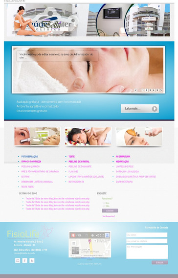 Script Site Php Salao De Beleza E Clinica De Estética 2014