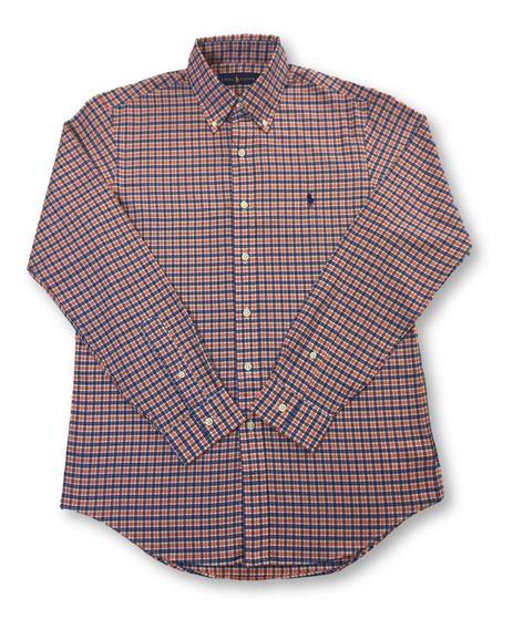 Ralph Lauren Camiseta De Algodón Regular En Naranja/azul A