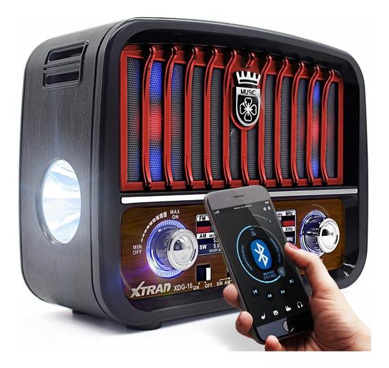 Caixa Som Rádio Retrô Vintage Mp3 Fm Am S/bluetooth Portátil