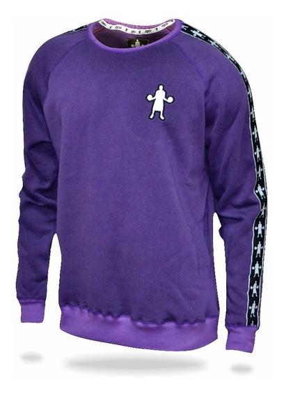 Sweater Buzo Cuello Redondo Baller Brand Boss Violeta
