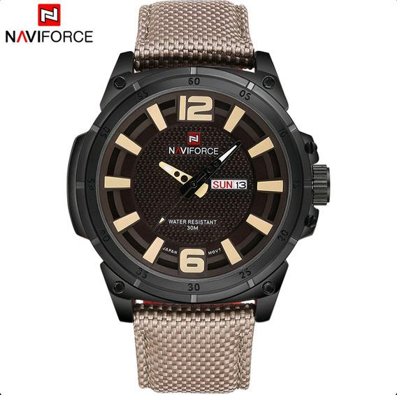 Relógio Masculino Análogo Militar Naviforce Nf9066m Original