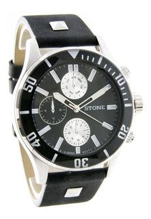 Reloj Stone Analogo Hombre St1044 Cuero Agente Of. Liniers