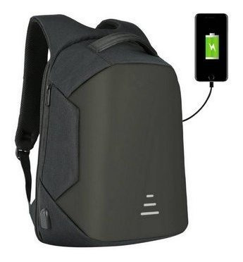 Mochila Antirrobo Con Puerto Usb Impermeable Notebook