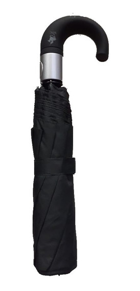 Paraguas Ejecutivo Corto 8 Varillas Negro Polo Club Oferta!!