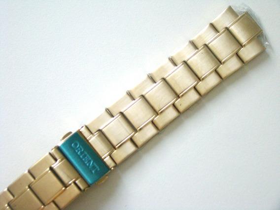 Pulseira Dourada Orient 469gp042 Original - Adaptação!