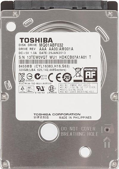 Hd 320gb Notebook 2.5 5400 Rpm Sata 3.0gbp/s Slim 7mm