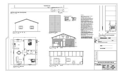 Projeto Arquitetônico Até 45m², Casa Popular.