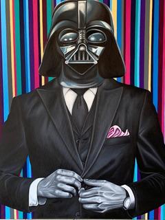 Pintura Moderna Minimalista Darth Vader Con Traje