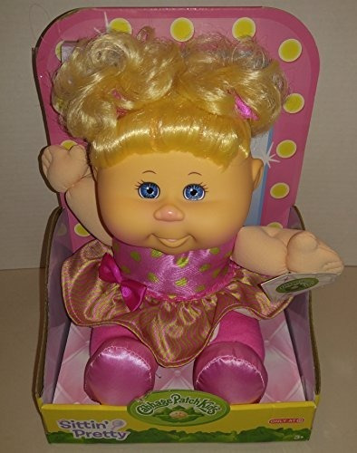 Cabbage Patch Kids Sittin Pretty Doll Pelo Rubio / Ojos Azul
