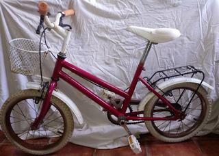 Bicicleta Nena Rodado 16 Impecable Canasto Portaequipaje